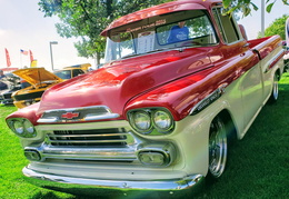 Chevy Apache in Red over White Front