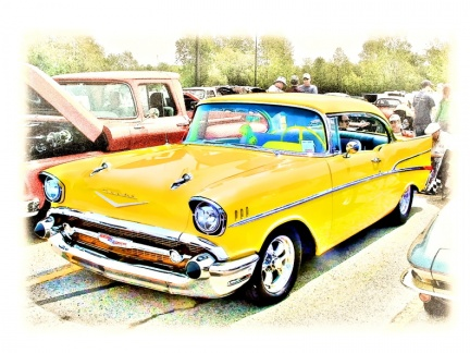 57 Chevy Yellow tonemapped