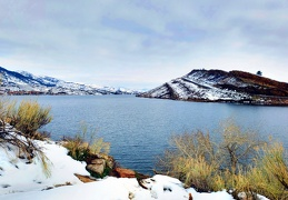 Horsetooth Reservoir Winter