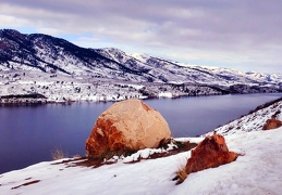 Horsetooth Reservoir with Boulder