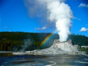 Yellowstone National Park Rainbow Geyser