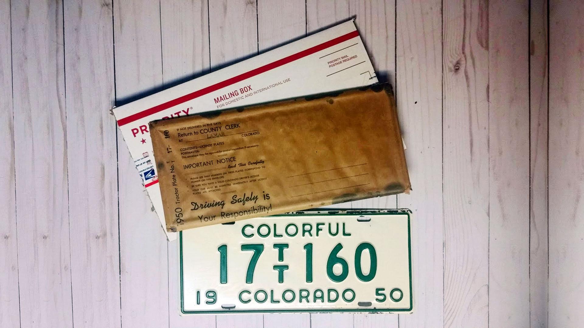 Colorful-Colorado-TT-1950-License-Plates