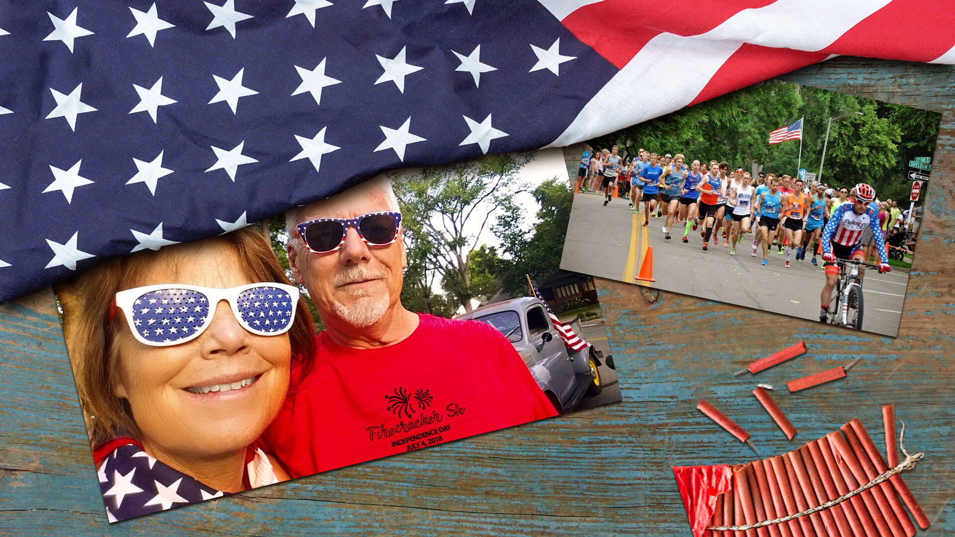 Flash and Jan at the July 4th 2018 Firecracker 5k