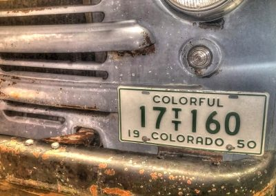 License Plate - Colorado 17 TT 160 1950