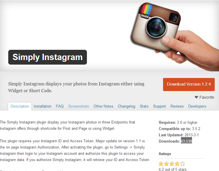 Instagram Plugin